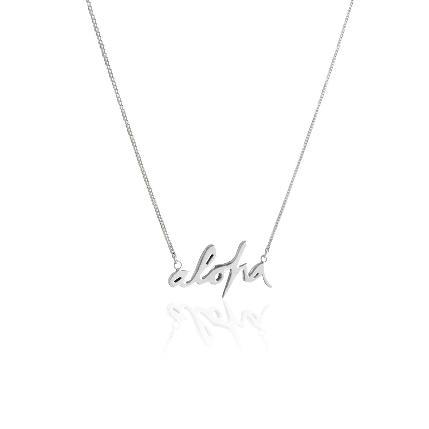 GOLDFISH KISS x LA LUNA ROSE 'ALOHA' NECKLACE (Silver)