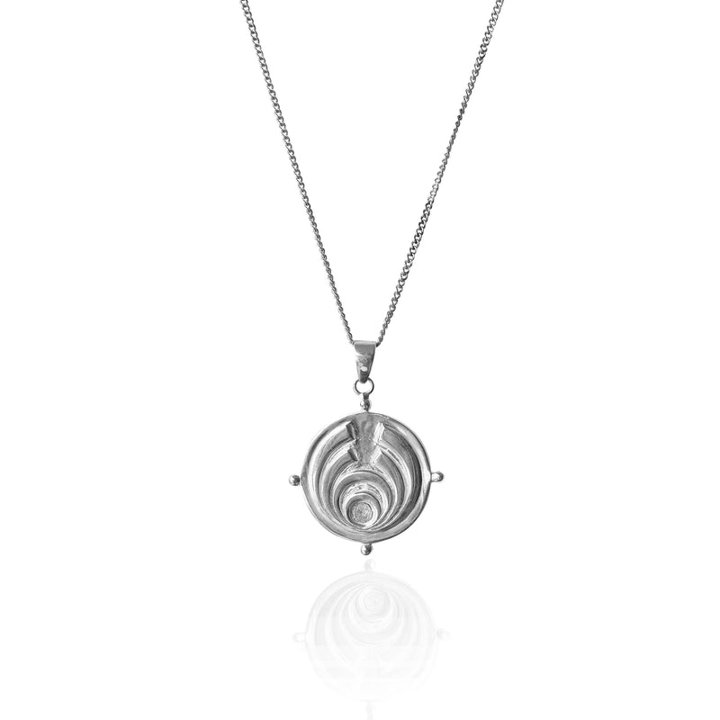 SOJOURNER 'STRENGTH' NECKLACE PENDANT - SILVER