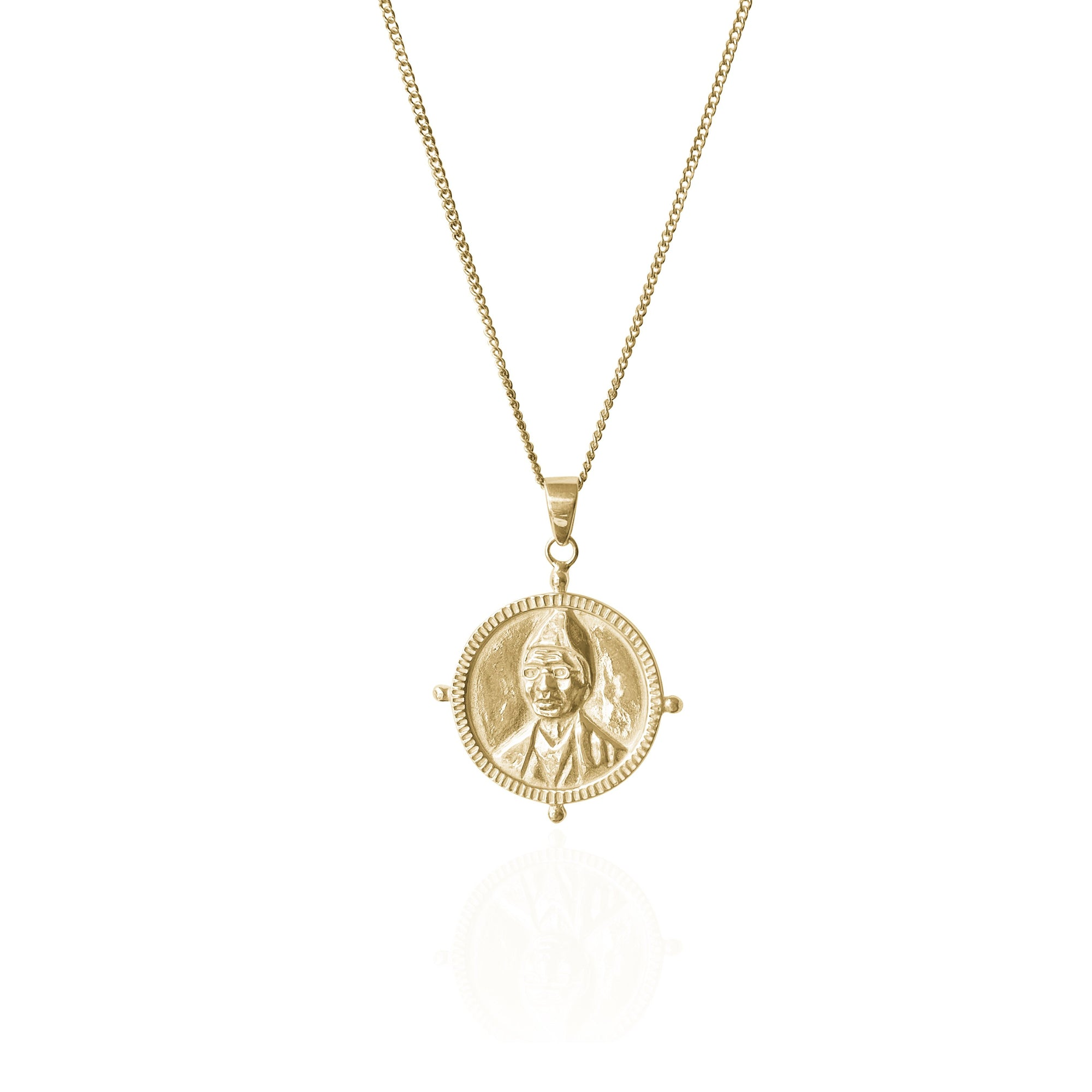 SOJOURNER TRUTH Motherhood Strength Hopi Symbol Necklace in 18kt Gold