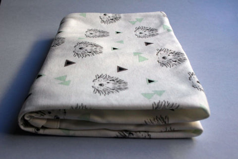 Organic Baby Swaddle Blanket - Baby Hedgehog - Little Dreamer Australia