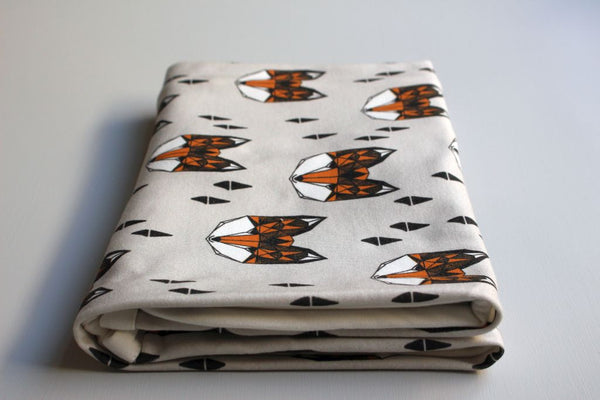 Organic Baby Swaddle Blanket - Friendly Fox - Little Dreamer Australia