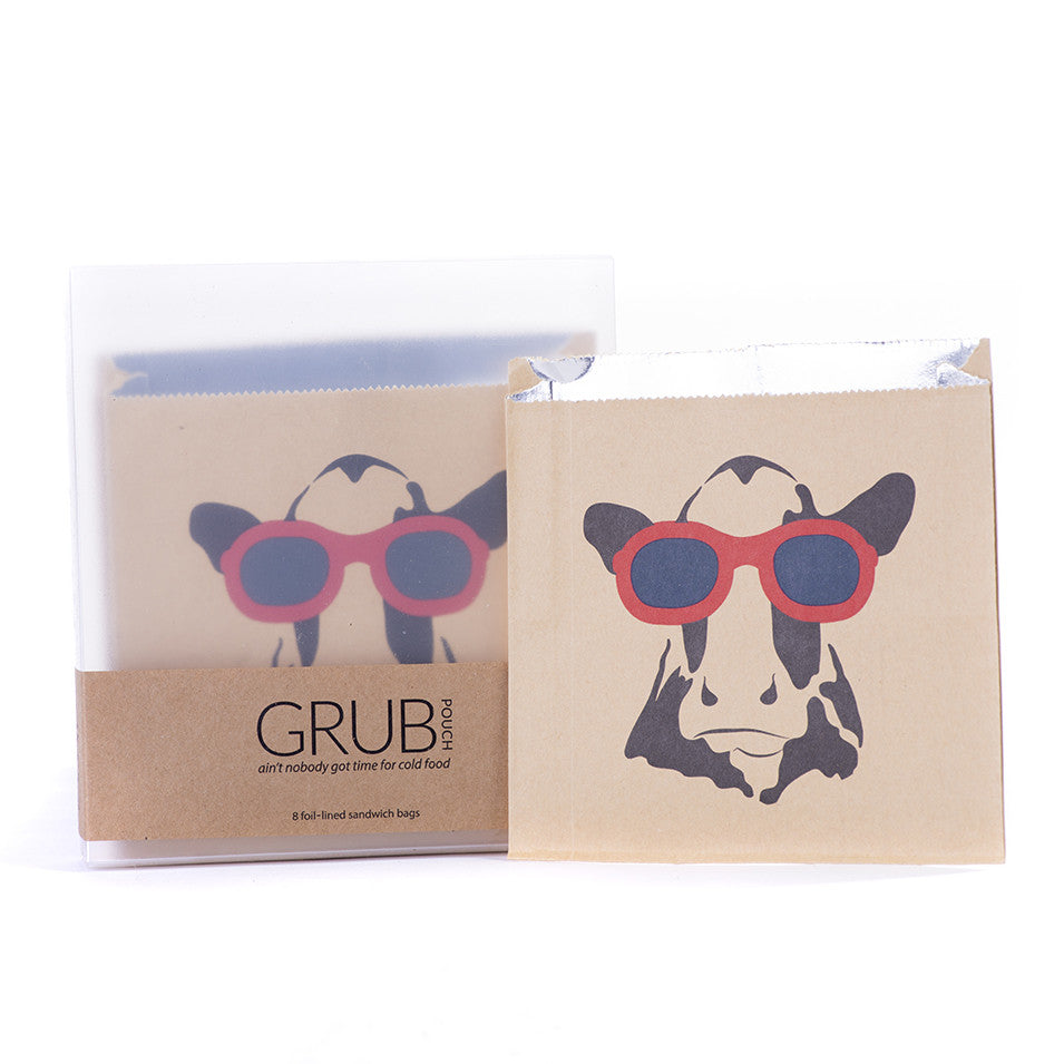 GRUB Pouch - Cow with Sunglasses