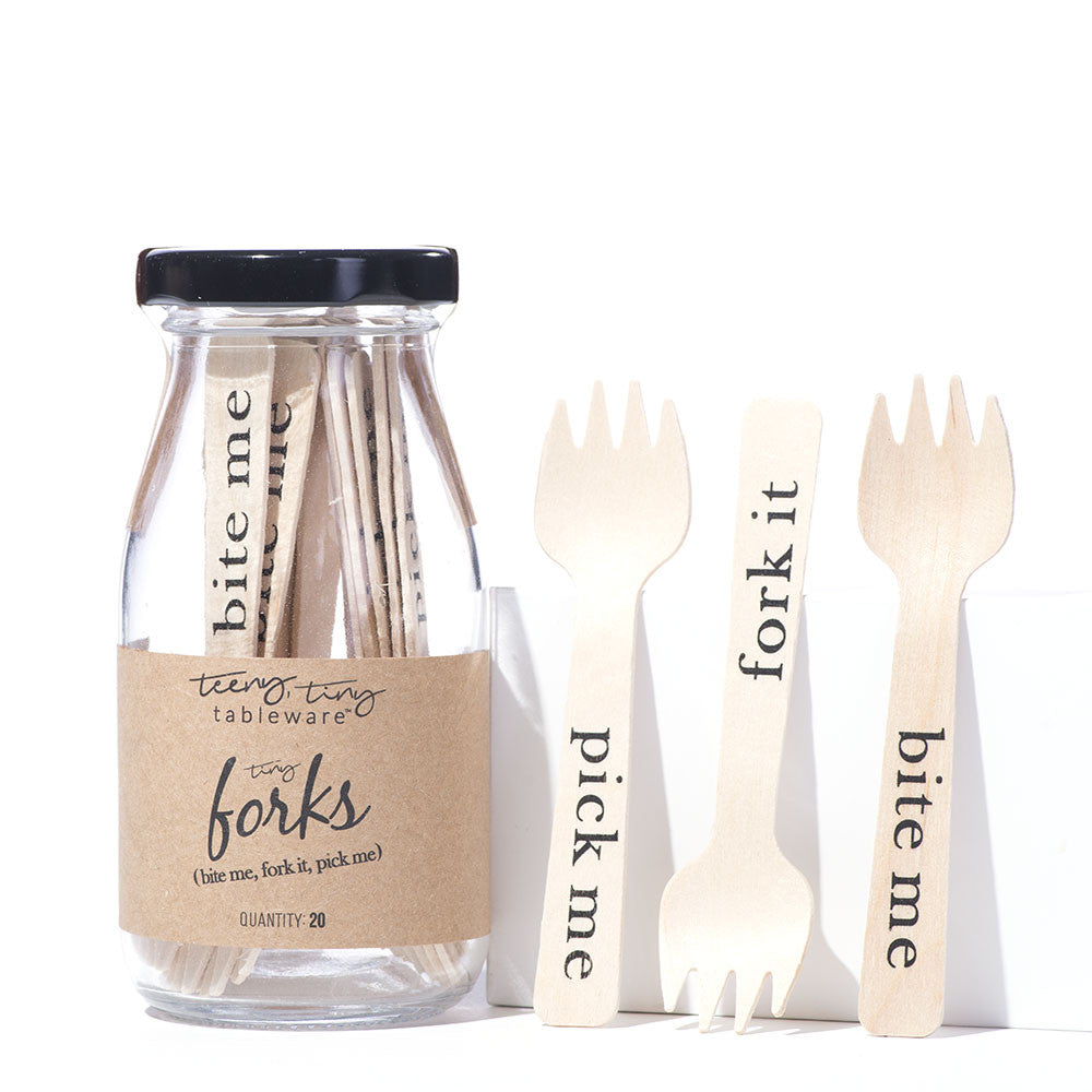 Tiny Appetizer Forks - Bite Me, Pick Me, Fork It