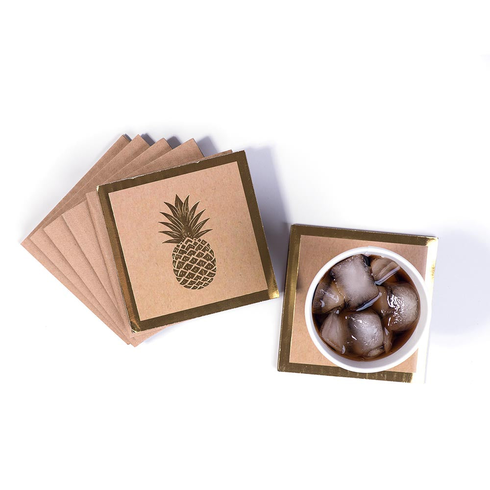 Coasters - Gold Pineapple