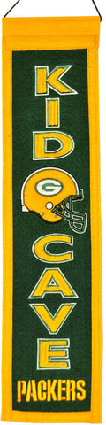 green bay packers,kid,cave,banner