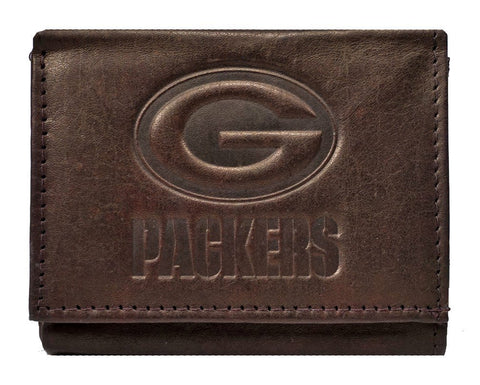rico,inc,green bay packers,embossed,leather,wallet,billfold,money clip,clothing accessories