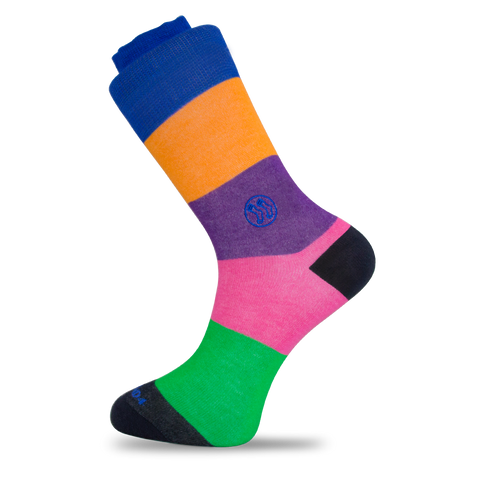 - LGBTQ - Stripe Combo No Show Office Bamboo Sock