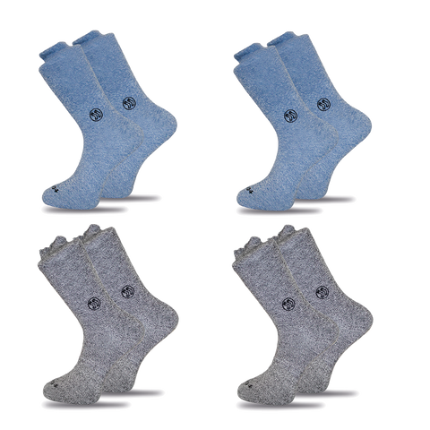 8x Functional Navy Twisted Cotton Ankle Sock