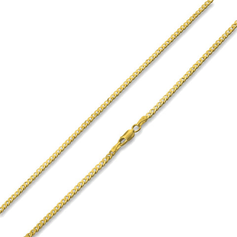 Boxy 3mm 18k Gold Plated Chain