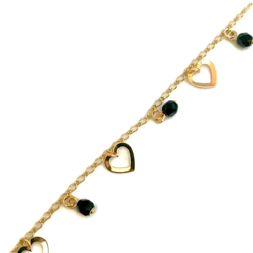 Heart Charm Design Anklet 18Kts Of Gold Plated Anklet