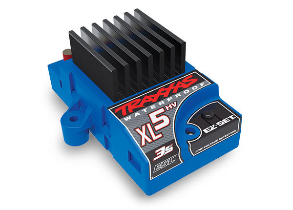 Traxxas XL-5HV 3s Electronic Speed Control, Waterproof (Low-Voltage Detection, Foward/Reverse/Brake) TRA3025