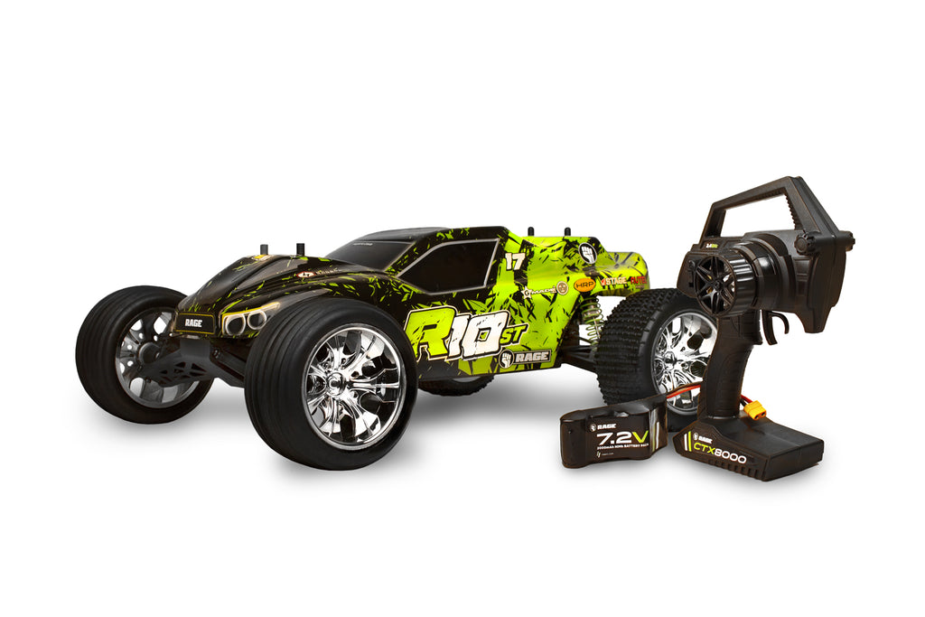 Rage R10ST Stadium Truck RTR, 1/10 Scale, Brushless, w/ a Battery, and Charger RGRC1000