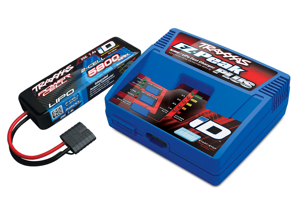 Traxxas Battery & Charger Completer Pack, Includes 2970 iD Charger and 2843X 5800mAh 7.4V 2-Cell LiPo TRA2992