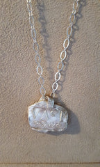 Vast pure silver necklace
