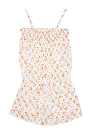 Edith Playsuit with Pompom Trim (Ages 3-10)