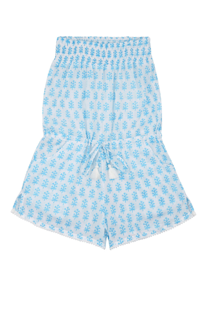 Edith Playsuit Strapless with Pompom Trim<br>(Ages 5-6)