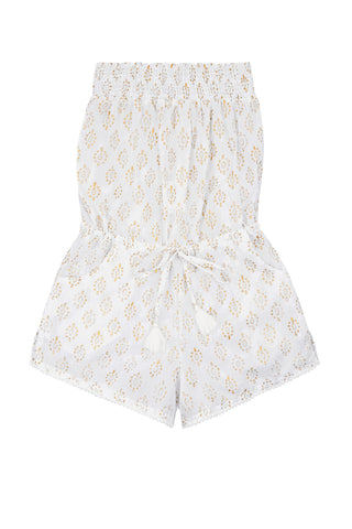 Edith Playsuit Strapless with Pompom Trim<br>(Ages 9-10)