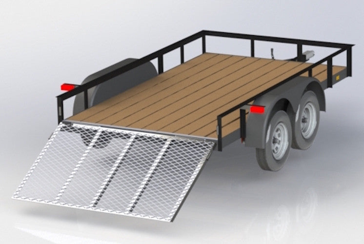 12 FT TRAILER with Dual Axle - Welding Plans - Digital Download
