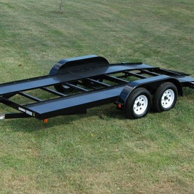 CAR HAULER TRAILER 16′ Welding Plans (Diamond Plate Deck)