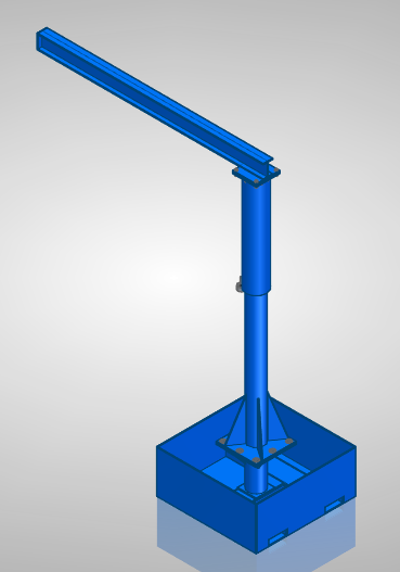Jib Crane Portable - Welding Plans - Digital Download