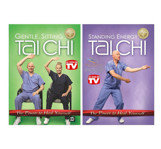 Sitting Tai Chi and Standing Energy Tai Chi Discounted DVD Bundle