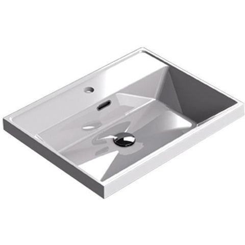 Sonia CODE Washbasin 24 inches Single Drop-In Rectangular MX1 Bathroom Sink - AGM Home Store LLC