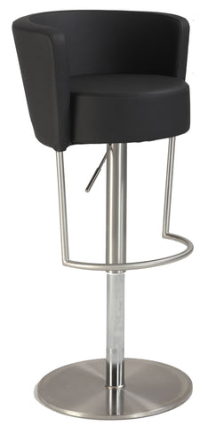 Chintaly 1640-AS-BLK Modern Pneumatic Gas Lift Swivel Stool