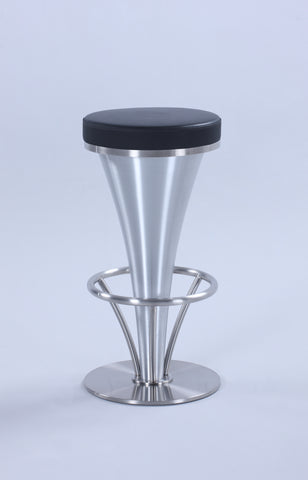 "Chintaly 1671-BS-BLK ""V"" Pedestal Bar Stool"