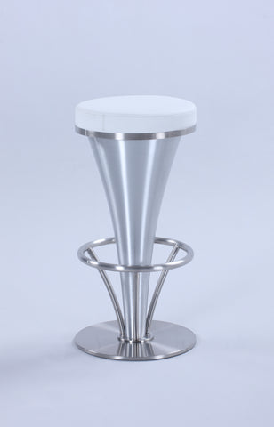 "Chintaly 1671-CS-WHT ""V"" Pedestal Counter Stool"