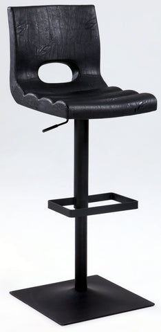 Chintaly 1885-AS-BLK Cut Back Oversized Pneumatic Stool