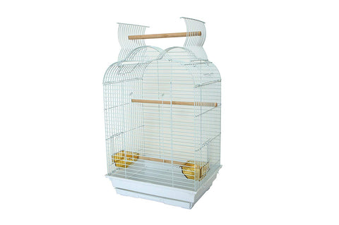 YML Bar Spacing Small Parrot Cage, 18 x 14, White