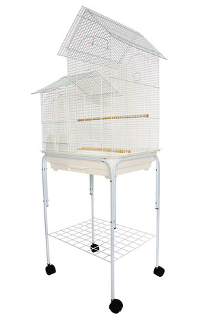 "YML 1/2"" Bar Spacing Villa Top Bird Cage with Stand"