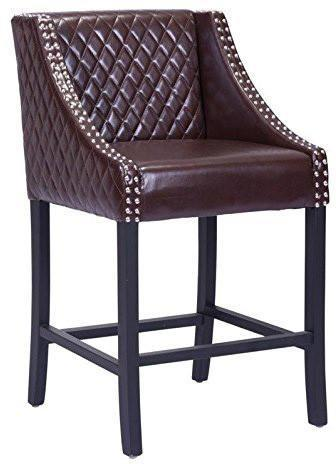 Zuo Modern 98606 Santa Ana Counter Chair Color Brown Oak Wood Finish - BarstoolDirect.com