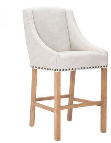 Zuo Modern 98613 Indio Bar Chair Color Beige Oak Wood Finish - BarstoolDirect.com - 1