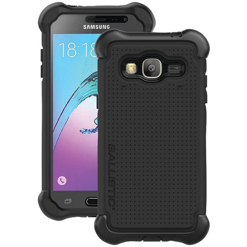 Ballistic Case Co. TJ1708-A08N Ballistic Tough Jacket, Black / White,Samsung Galaxy J3 - Peazz.com