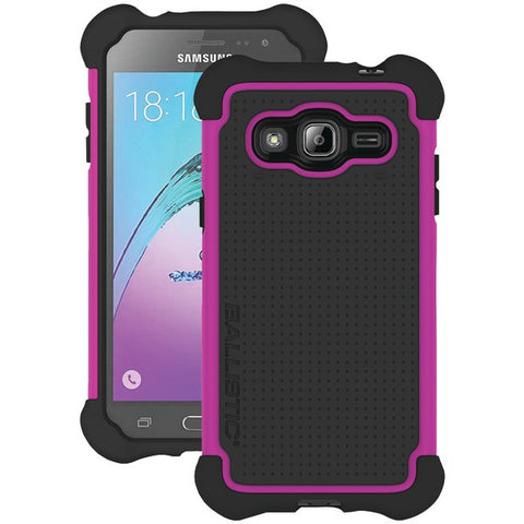 Ballistic Case Co. TJ1708-A19N Ballistic Tough Jacket, Black / Hot Pink,Samsung Galaxy J3 - Peazz.com