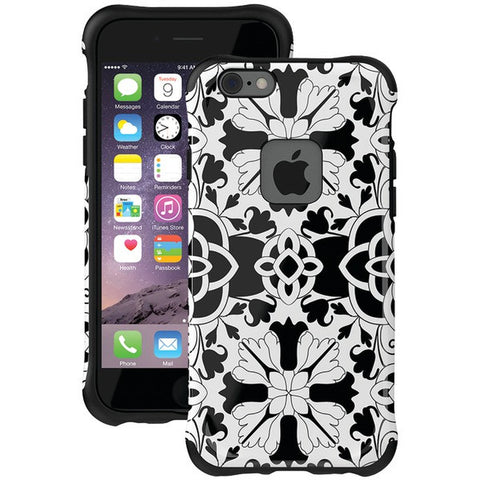 Ballistic Case Co. UT1667-B32N iPhone 6/6s Urbanite Select Case (Black Textured TPU with Lotus Blossom Pattern) - Peazz.com