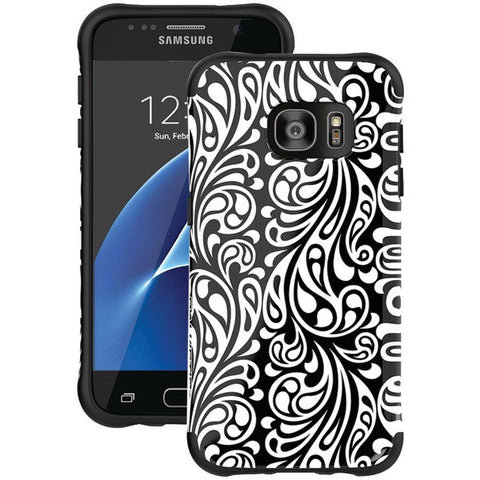 Ballistic Case Co. UT1688-B31N Samsung Galaxy S 7 Urbanite Select Case (Black Textured TPU with Tiger Lily Pattern) - Peazz.com