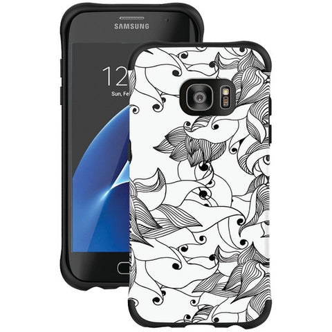 Ballistic Case Co. UT1689-B29N Samsung Galaxy S 7 edge Urbanite Select Case (Black Textured TPU with Tiger Lily Pattern) - Peazz.com