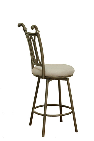 Chintaly DARCY-BS-BGE Han Painted Bronze Counter Stool