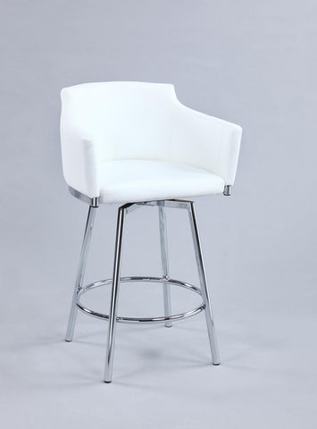 Chintaly DUSTY-CS-WHT Club Counter stool w/ memory swivel