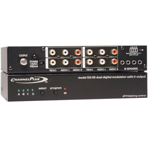 ChannelPlus 5545 Deluxe Series Modulator with IR Emitter Ports (Quad-Source) - Peazz.com