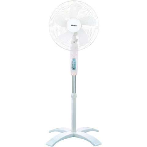 "Optimus F-1760 16"" Wave Oscillating Stand Fan (With Remote) - Peazz.com"