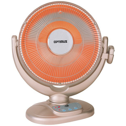 "Optimus H-4438 14"" Oscillating Dish Heater with Remote - Peazz.com"