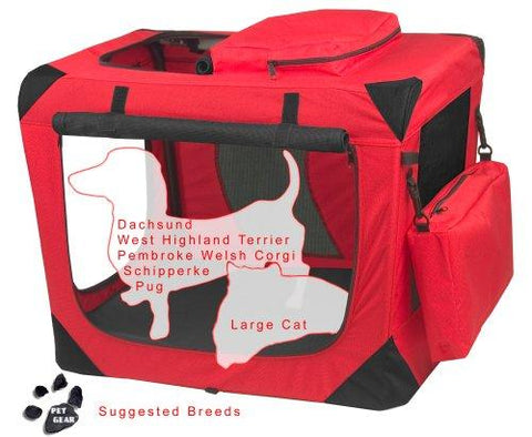 Pet Gear PG5526RP Steel / Soft Crates Red Poppy Finish