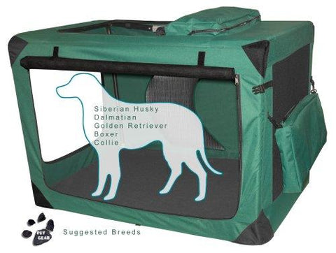 Pet Gear PG5542MG Steel / Soft Crates Moss Green Finish
