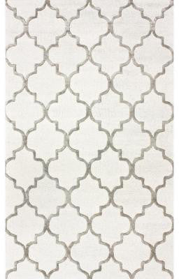 Nuloom SBHAC13A-12018 Caspian Collection Nickel Finish Hand Tufted Park Avenue Trellis - Peazz.com