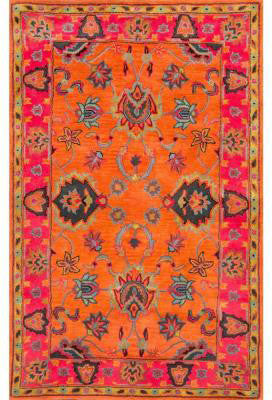 Nuloom SPRE21A-960136 Remade Collection Orange Finish Hand Tufted Montesque - Peazz.com