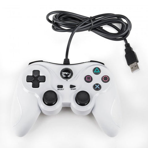 PS3 Wired USB Controller - White (NXP3-812)