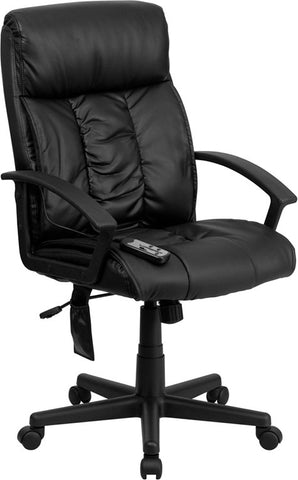 Flash Furniture BT-9578P-GG High Back Massaging Black Leather Executive Office Chair - Peazz.com